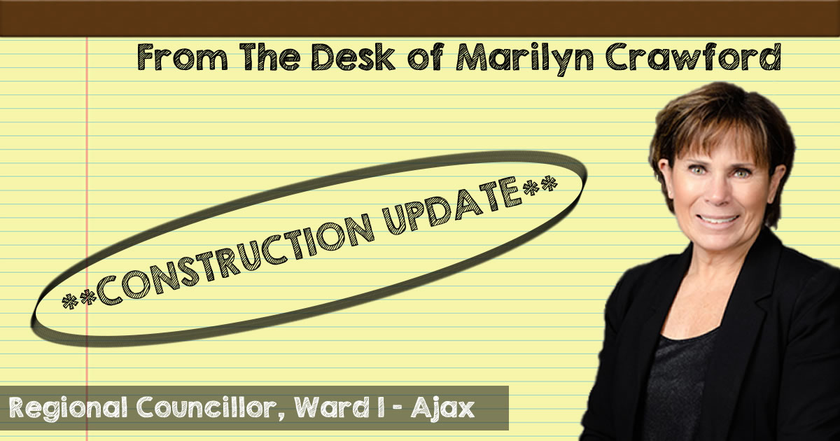 Quick Update on Construction Happening in the Ward 1 Area