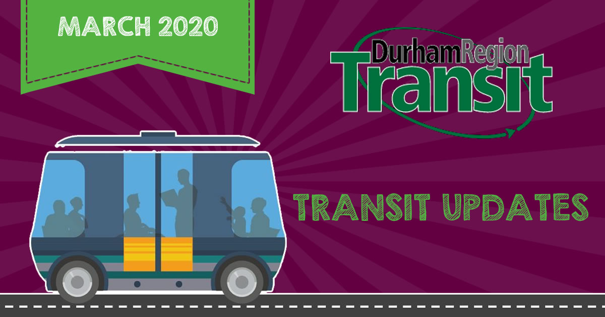 March 2020 Durham Region Transit Updates