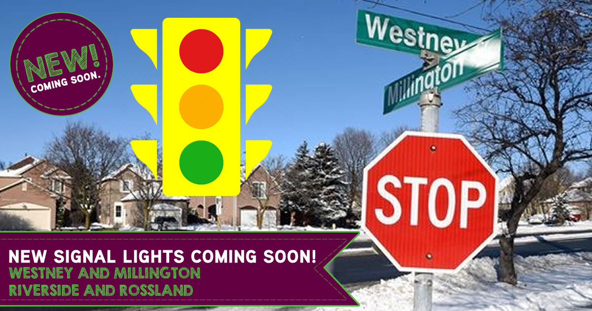 New Signal Lights Coming to Westney/Millington and Riverside/Rossland Intersections